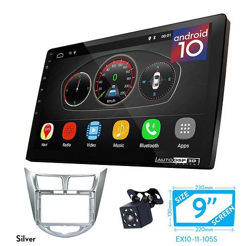 "9"" DSP Car Radio+Fascia Kit Compatible with HYUNDAI i-25, Accent, Solaris, Verna"