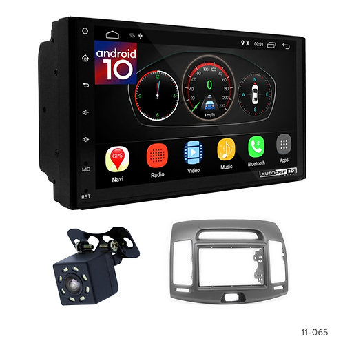 "7"" DSP Car Radio+Fascia Kit Compatible with Hyundai Elantra (HD), Avante (HD) 06"