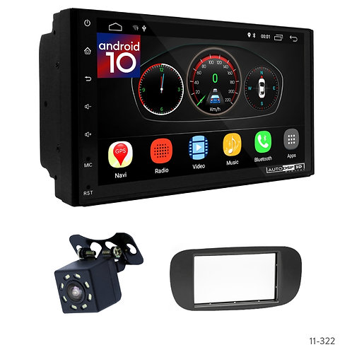 """7"""" DSP Car Radio+Fascia Kit Compatible with Fiat (500) 07-15"""