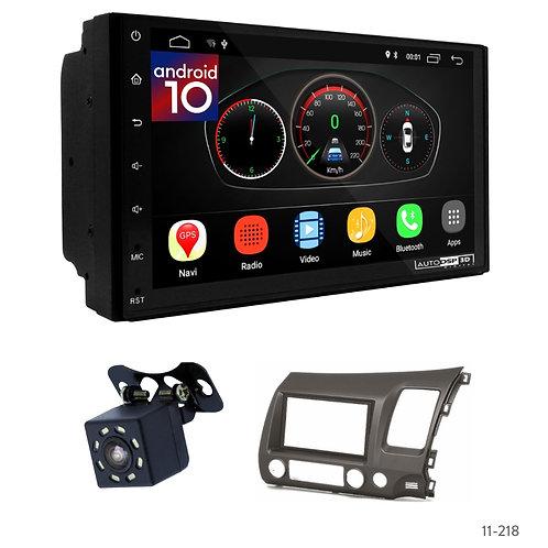 "7"" DSP Car Radio+Fascia Kit Compatible with Honda Civic 07-11"