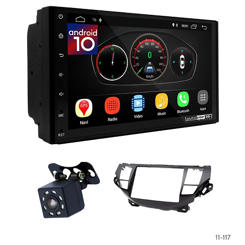 "7"" DSP Car Radio+Fascia Kit Compatible with Honda Crosstour 10-12; Accord 08-12"