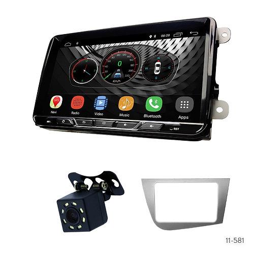 "VW10-S 9"" Car Radio+Fascia Kit Compatible with SEAT Leon 2005-2012"