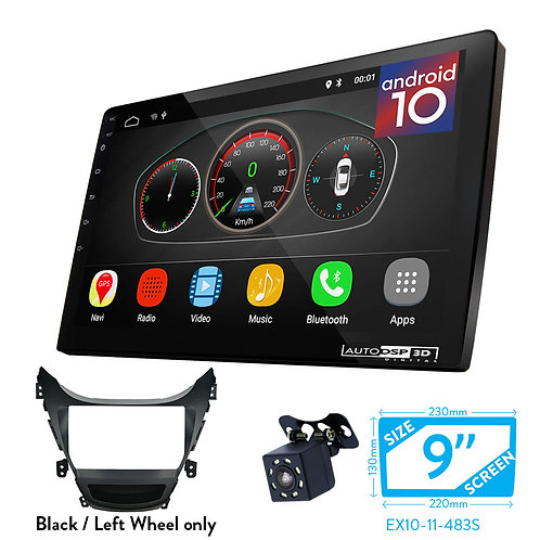 "9"" Android 10 Car Stereo + Fascia Kit for HYUNDAI Elantra (MD), Avante (MD)"