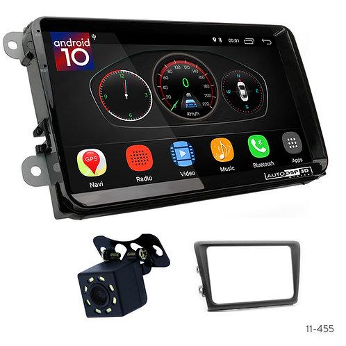 "VW10 9"" Car Radio Plus 11-455 Fascia Kit Compatible with Skoda Rapid 2013+"
