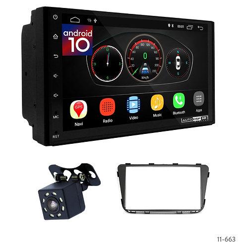 "7"" DSP Car Radio+Fascia Kit Compatible with Hyundai i25, Accent, Solaris, Verna"