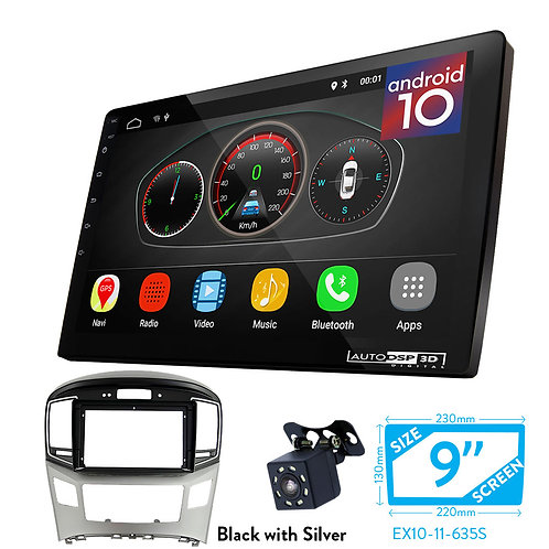 "9"" Android 10 Car Stereo + Fascia Kit for HYUNDAI H-1, Starex, i800, iLoad, iMax"