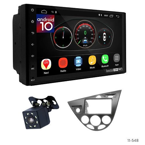 """7"""" DSP Car Radio+Fascia Kit Compatible with Ford Focus 1998-04"""