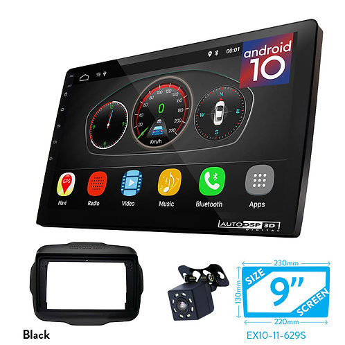 """9"""" DSP Car Radio+Fascia Kit Compatible with JEEP Renegate 2014+"""