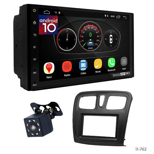 "7"" DSP Car Radio+Fascia Kit Compatible with Renault Logan; Sandero/Dacia Sandero"