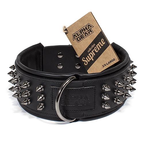 Collier de cuir 2X-Large - Noir