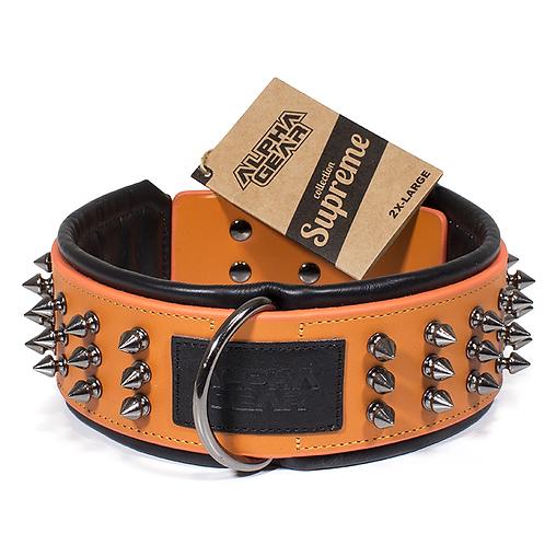 Collier de cuir 2X-Large - Orange