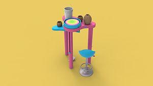 fixed legs- animation of side tabel in u
