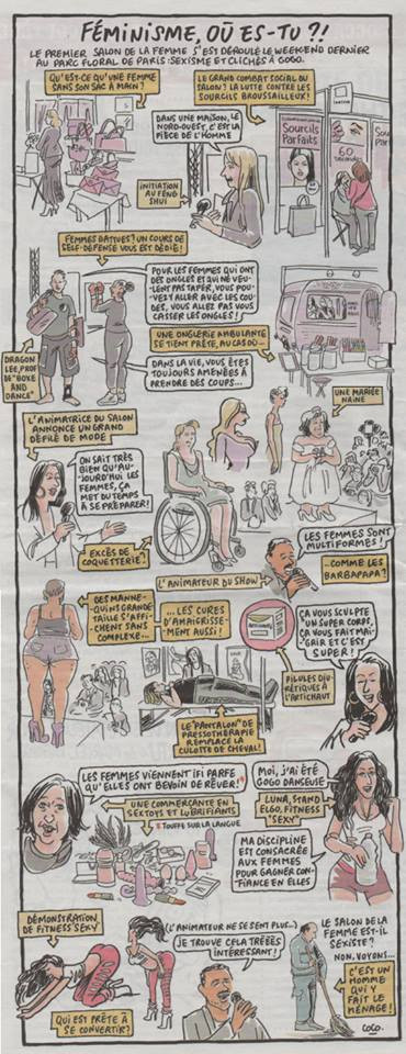 Caricature de notre mariée - Charlie Hebdo