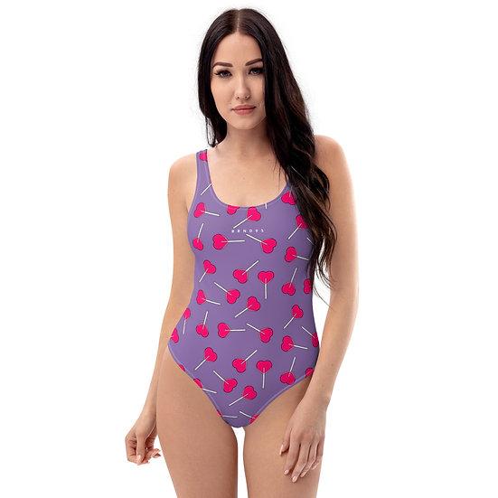 LPOP Purple One-Piece Swimsuit