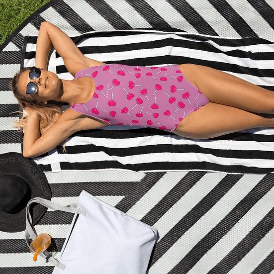 LPOP Pink One-Piece Swimsuit