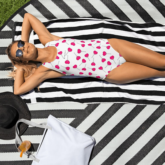 LPOP White One-Piece Swimsuit