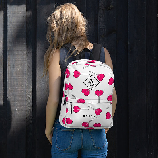 LPOP White Backpack
