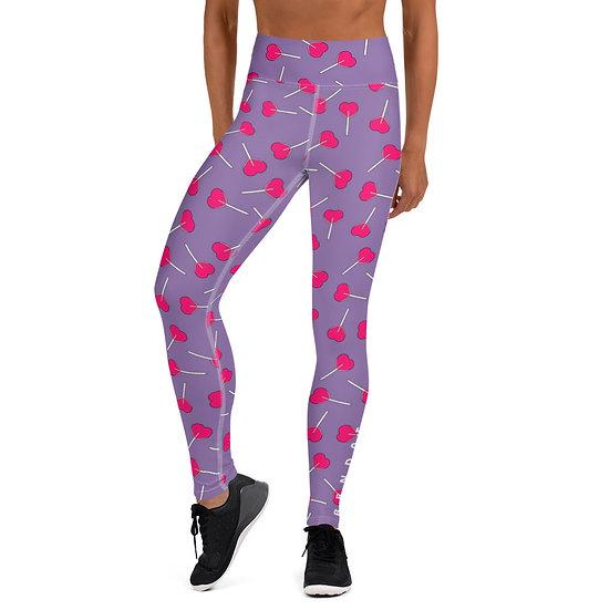 LPOP Purple Yoga Leggings