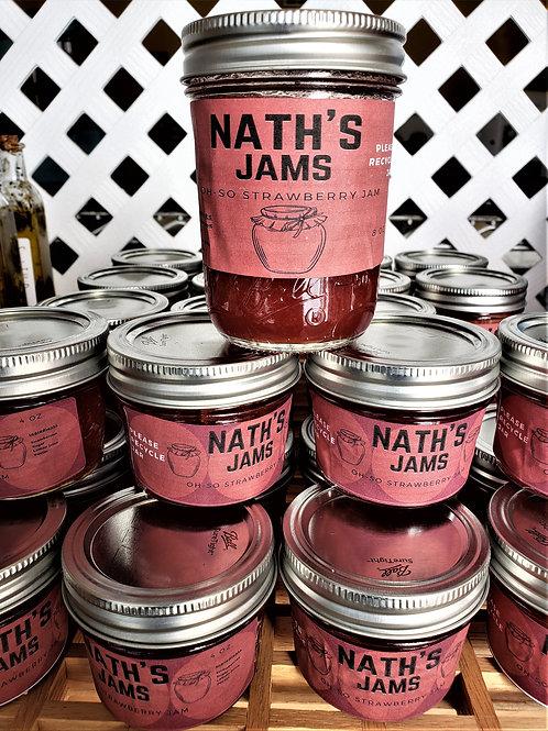 Oh-So Strawberry Jam - Nath's Jams, 4 oz
