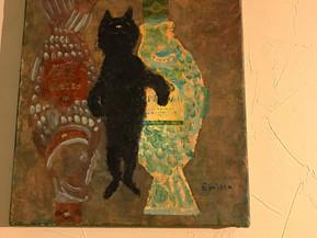 黒猫があちこちに♪