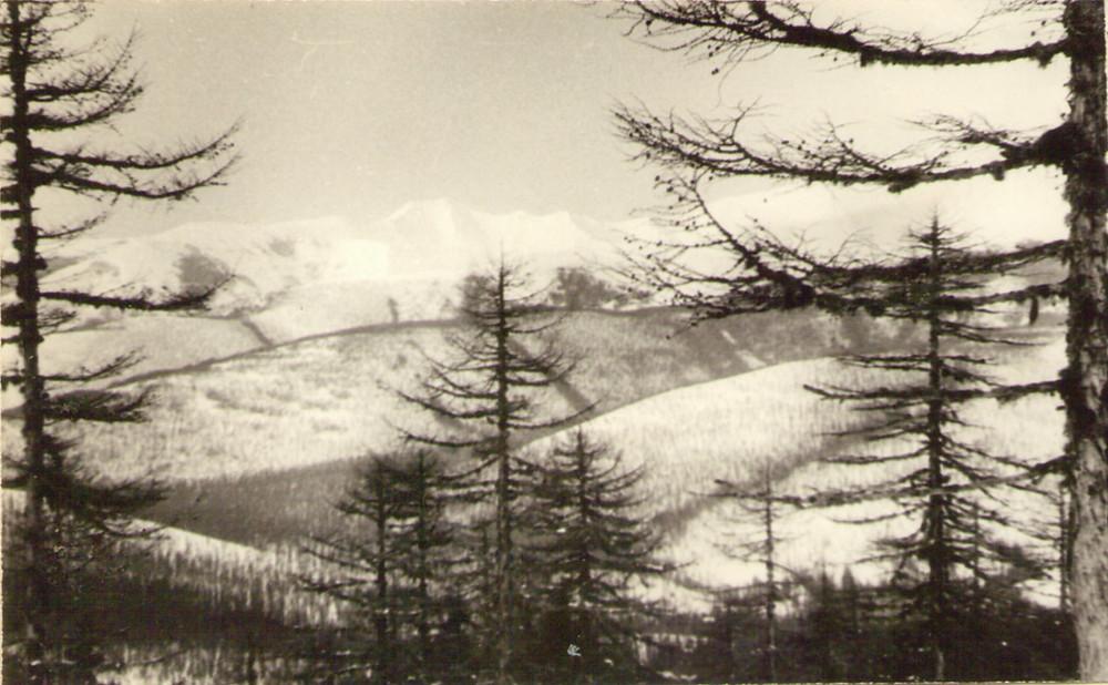 Вид с перевала Крест — Туристический поход в район хребта Дуссе-Алинь 1986 год — Блог Сергея Чеботова
