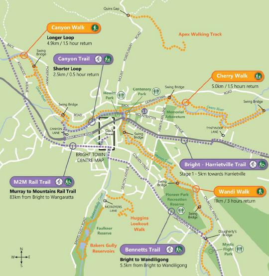 Карта маршрутов в городе Брайт| skitour.club| Блог Сергея Чеботова