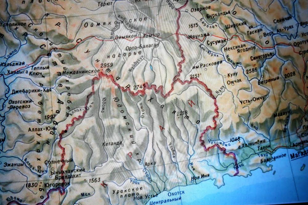Карта района хребта Сунтар - Хаята| skitour.club| Блог Сергея Чеботова