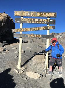 Stela point — Промежуточная точка подъема Стелла пик, 5756 м. — Килиманджаро