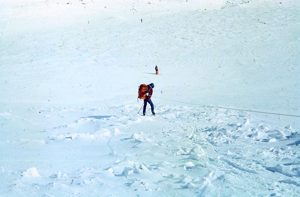 спуск по перилам| skitour.club| Блог Сергея Чеботова