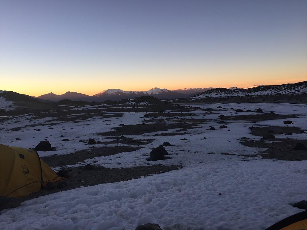 Рассвет над чилийскими Андами | skitour.club | Блог Сергея Чеботова