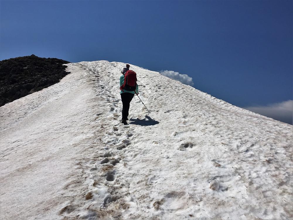 Снег перд вершиной Feathertop| skitour.club| Блог Сергея Чеботова