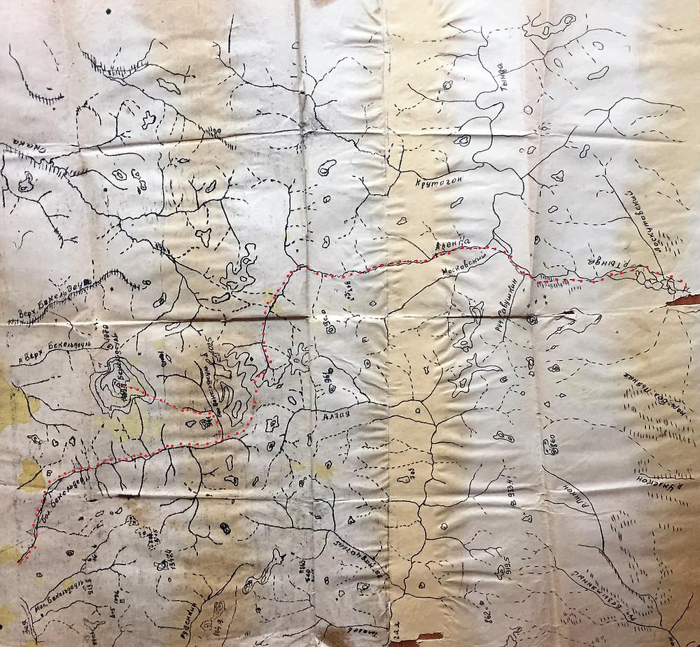 Карта маршрута| skitour.club| Блог Сергея Чеботова