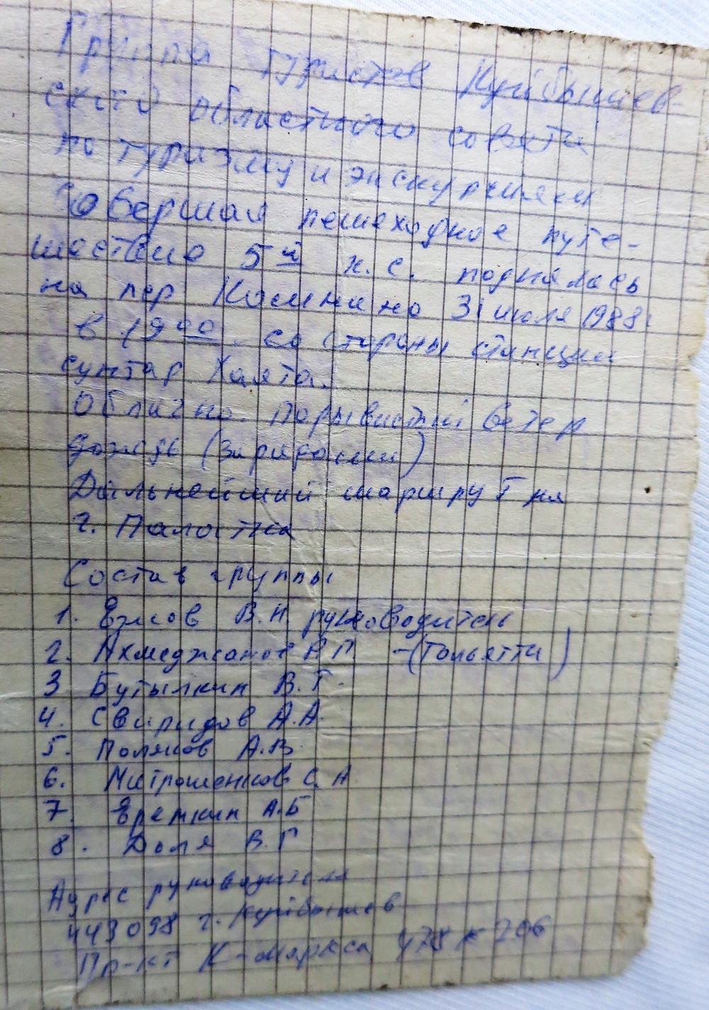 Записка с перевала Комнано| skitour.club| Блог Сергея Чеботова