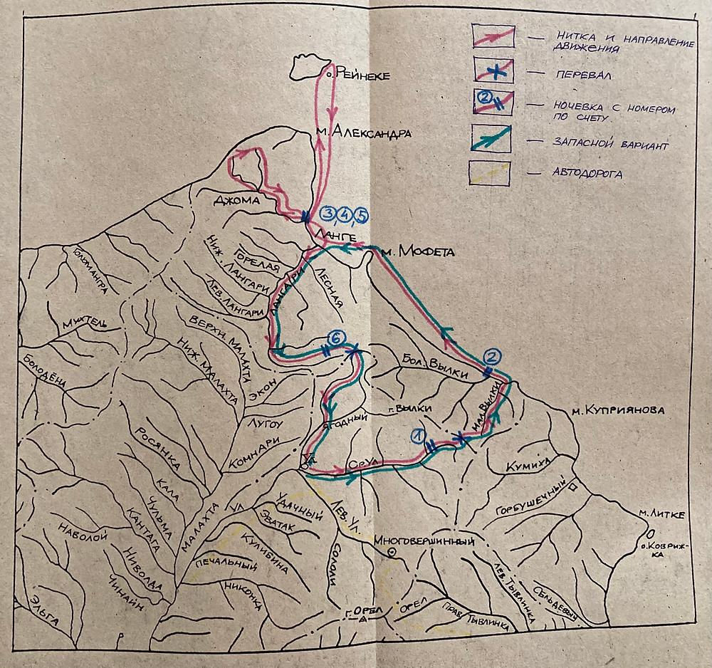 Карта маршрута  skitour.club  Блог Сергея Чеботова
