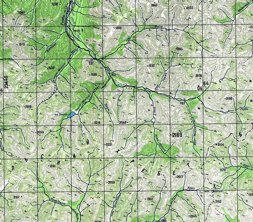 Карта Баджала| skitour.club| Блог Сергея Чеботова