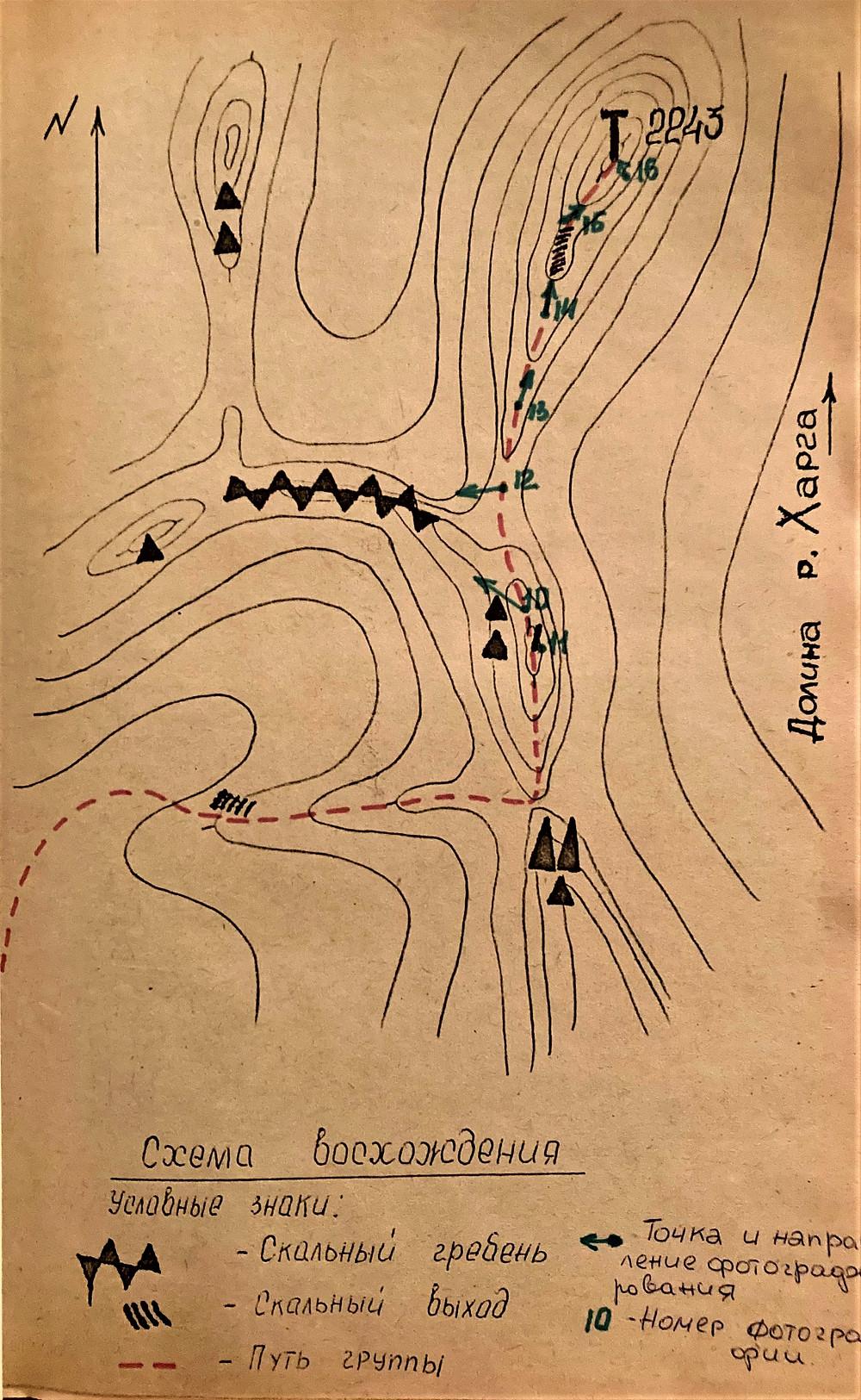 Схема восхождения| skitour.club| Блог Сергея Чеботова