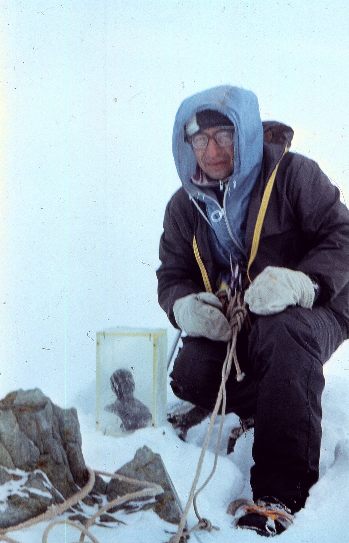На вершине пика Победа| skitour.club| Блог Сергея Чеботова