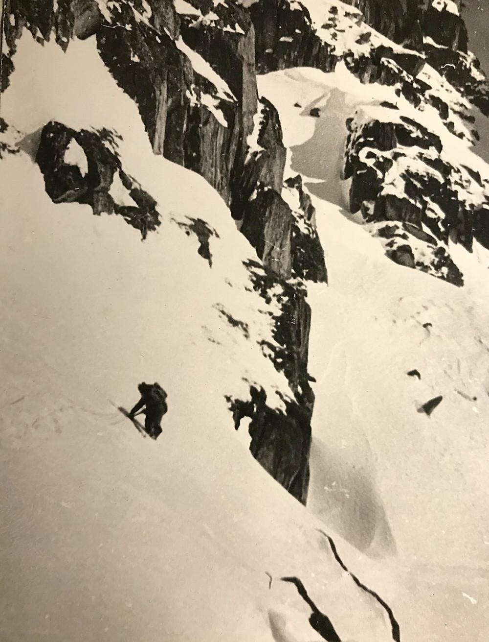 Траверсируем склон — Туристический поход в район хребта Дуссе-Алинь 1986 год — Блог Сергея Чеботова