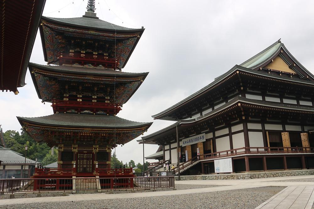 Трех ярусная пагода и основной зал.