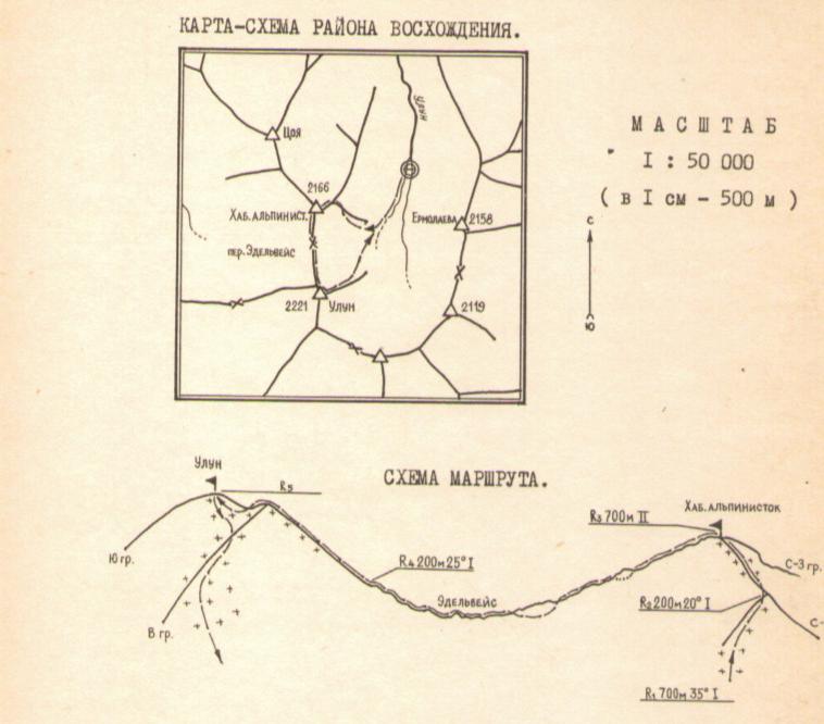Схема маршрута восхождения| skitour.club| Блог Сергея Чеботова