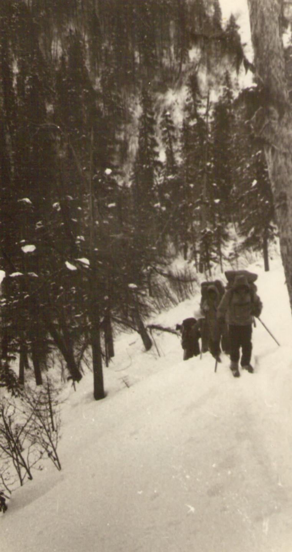 Подъем на перевал — Туристический поход в район хребта Дуссе-Алинь 1986 год — Блог Сергея Чеботова