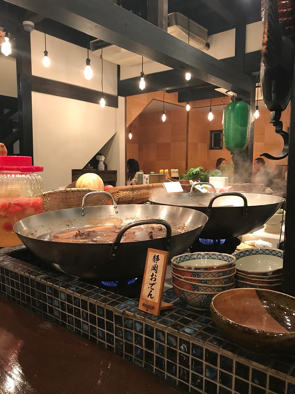Кухня японского ресторана