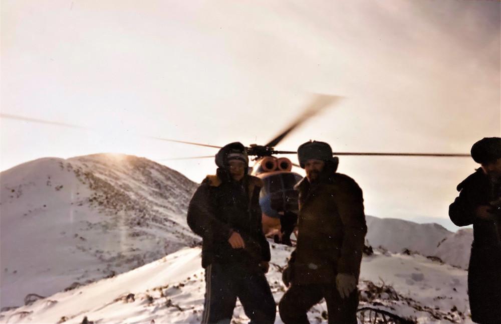 Посадка вертолета на хребте Баджал| skitour.club| Блог Сергея Чеботова