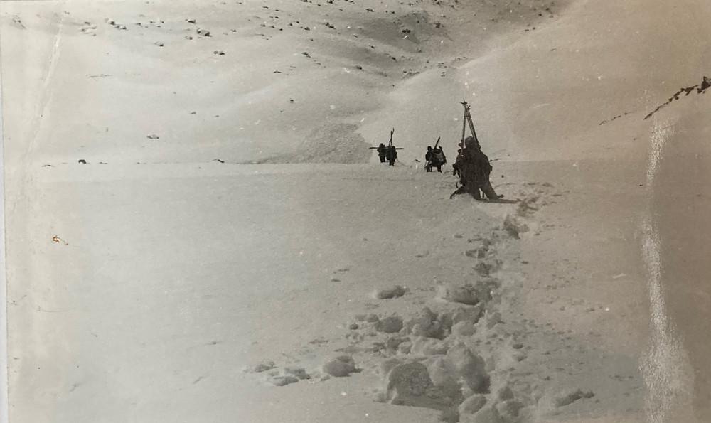 Спуск с перевала Радуга| skitour.club| Блог Сергея Чеботова