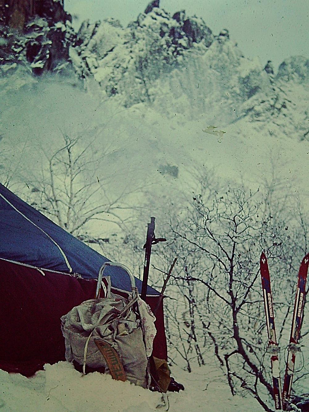 Наш лагерь — Туристический поход в район хребта Дуссе-Алинь 1986 год — Блог Сергея Чеботова