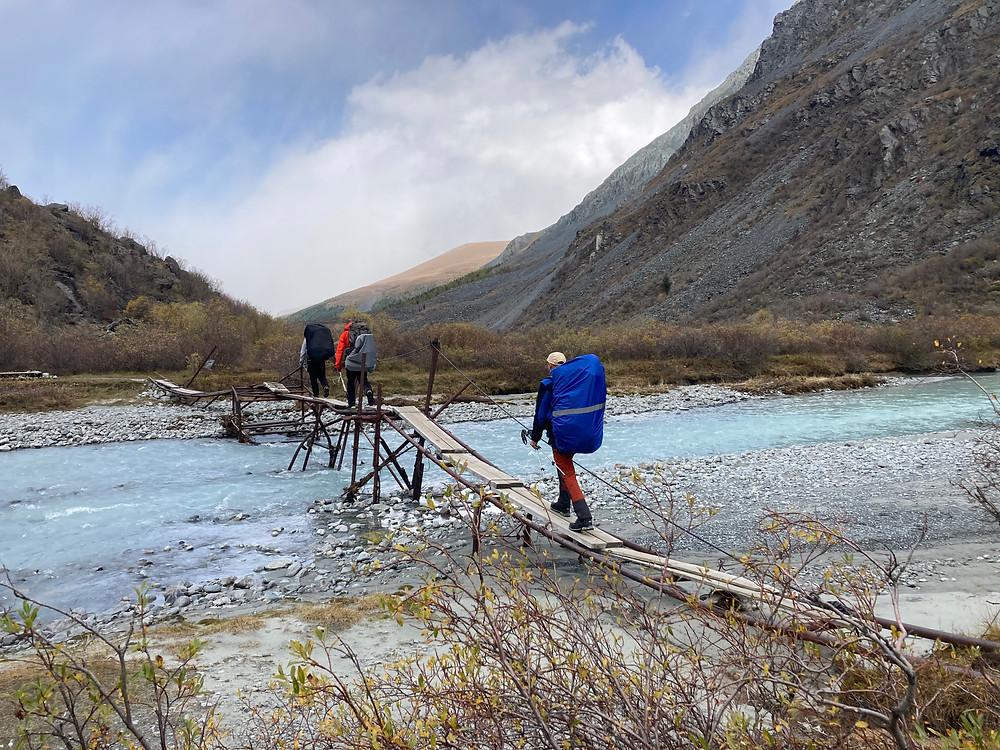 Мост через р. Аккем| skitour.club| Блог Сергея Чеботова
