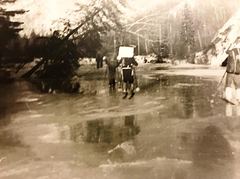 Наледи на р.Сонах — Туристический поход в район хребта Дуссе-Алинь 1986 год — Блог Сергея Чеботова