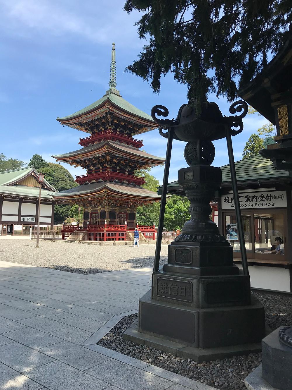 Three-stored Pagoda Трехъярусная пагода