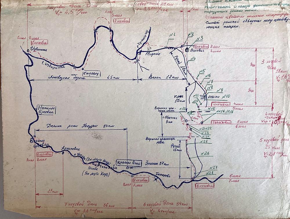 Map of trip| skitour.club| Блог Сергея Чеботова