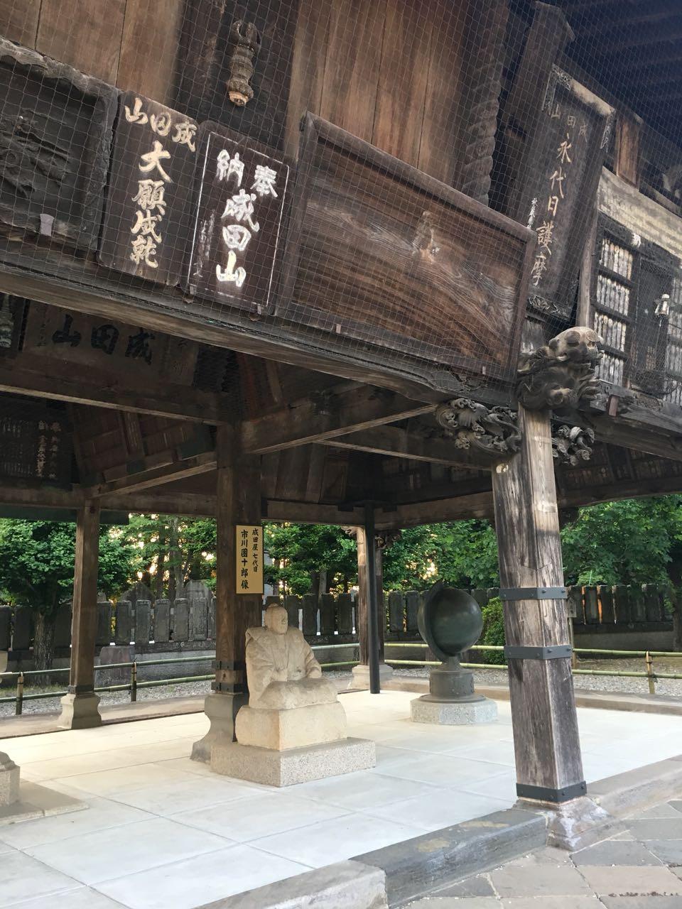 статуя актера театра Кабуки Итикава Дандзюро.